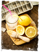 Tray Posters - Summertime Lemonade Poster by Edward Fielding