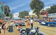 Cruising Paintings - Summertime by Michael Swanson