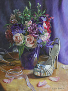 Shoes Painting Prints - Summertime Stilettos Print by Anna Bain