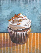 Black Diet Paintings - Summertime Yellow Cupcake by Marco Sivieri