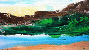 Clear Sky Mixed Media - Summit Lake by Kume Bryant