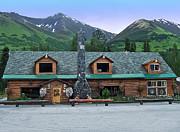 Summit Lake Lodge Alaska Print by Aimee L Maher