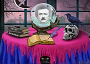 Pendulum Digital Art - Summoning Edgar Allan Poe by Glenn Holbrook