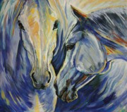 Horses Paintings - Sun and Sea by Silvana Gabudean