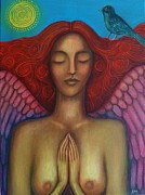 With Prayer Paintings - Sun Angel by Alice Mason