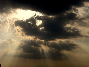 Sun Rays Originals - Sun behind Black Clouds by Anupam Sharma
