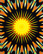 Symmetrical Design Prints - Sun Burst Print by Barbara Snyder