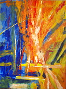 Star Burst Paintings - Sun Burst by Judy Hopkins