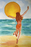 Dancing Girl Paintings - Sun Dance by Martha Kuper Brinson