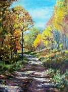 Autumn In The Country Prints - Sun Dappled Path Print by Bonnie Mason