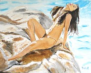 Artistic Nude Prints - Sun Day Print by Judy Kay