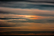 Jet Trails Posters - Sun Dog Landscape Poster by Christy Usilton
