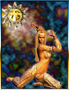 Harem Digital Art Posters - Sun Poster by Dorothy Lee