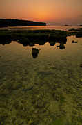 Tropical Sunset Prints - Sun Drenched Okinawa Print by Aaron S Bedell