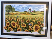 Sun Tapestries - Textiles Originals - Sun flower - Cross Stitch by Son Trinh Cong