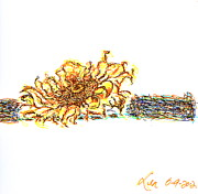 Tree Plantation Drawings - Sun flower by Len YewHeng