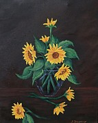 Shelf Originals - Sun Flowers  by Sharon Duguay
