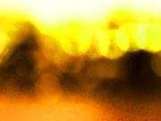 Sun Glow - Bright Yellow Abstract Art By Sharon Cummings Print by Sharon Cummings