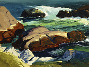 Sea Shore Prints - Sun Glow Print by George Wesley Bellows