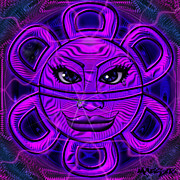 Taino Metal Prints - Sun God Guey Metal Print by Maestro Ruiz