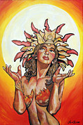 Lorinda Fore Metal Prints - Sun Goddess of Vallejo Metal Print by Lorinda Fore