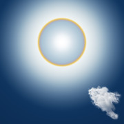 Clouds Mixed Media Posters - Sun Halo Poster by Atiketta Sangasaeng