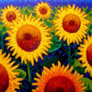 Wine Bottle Paintings - Sun Lovers II by John  Nolan