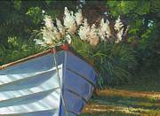 Pampas Grass Prints - Sun on the Pampas Grass Print by Marguerite Chadwick-Juner
