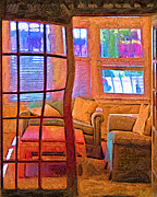 Fauvist Style Paintings - Sun Porch by Kirt Tisdale