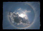 Sun Portal  A Rainbow Around The Sun With Black Border Print by Adam Long