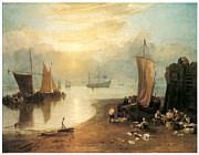 The Sun Rising Prints - Sun Rising through Vapour Print by J M W Turner