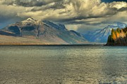 Lake Mcdonald Prints - Sun Scope Print by Adam Jewell