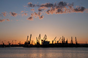 Industrial Background Originals - Sun sets behind the docks by Absenth Photography