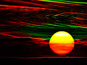 Solar Eclipse Digital Art - Sun Setting by Bruce Iorio