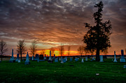 Christopher L Nelson - Sun Setting on Cemetary