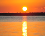 James Lewis Art - Sun setting over Beaufort by James Lewis