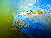 Blue Green Wave Photos - Sun Shade by Paul Topp