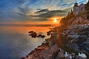 Bass Harbor Photos - Sun Shots by Adam Jewell