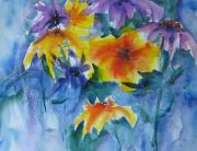 Rainy Day Paintings - Sun Splashes by Anne Duke