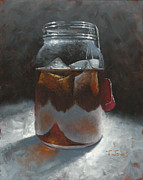 Mason Jar Prints - Sun Tea Print by Timothy Jones