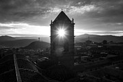 Bolivia Guide Prints - Sun Tower Of Potosi Black And White Print by For Ninety One Days