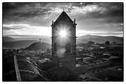 Bolivia Guide Prints - Sun Tower Of Potosi Black And White Framed Print by For Ninety One Days