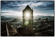 Bolivia Guide Prints - Sun Tower Of Potosi Vintage Print by For Ninety One Days