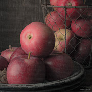 Sun Warmed Apples Still Life Square Print by Edward Fielding