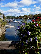Boats In Harbor Framed Prints - Sunapee Harbor 1 Framed Print by Will Boutin Photos