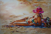 Susan Zavadil - Sunbather in Pink Hat