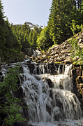 Mt Rainier Stream Framed Prints - Sunbeam Creek Falls Framed Print by Roger Reeves  and Terrie Heslop