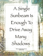 Saint Hope Mixed Media Posters - Sunbeam in the Piazza Poster by Claudette Armstrong