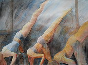 Yoga Pose Paintings - Sunbird Bow by Robert P Hedden