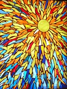 Sun Glass Art - Sunburst by Donna Moore